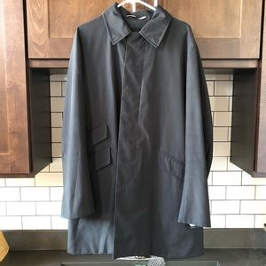 Banana Republic Black Trench Coat size Large
